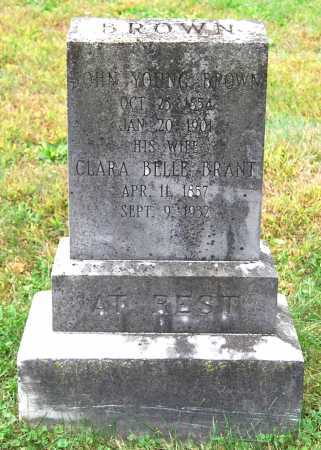BRANT BROWN, CLARA BELLE - Juniata County, Pennsylvania   CLARA BELLE BRANT BROWN - Pennsylvania Gravestone Photos