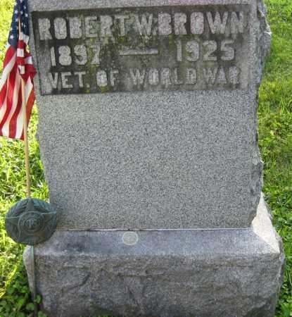 BROWN, ROBERT W. - Juniata County, Pennsylvania   ROBERT W. BROWN - Pennsylvania Gravestone Photos