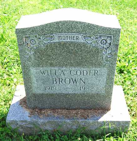 BROWN, WILLA J. - Juniata County, Pennsylvania | WILLA J. BROWN - Pennsylvania Gravestone Photos