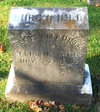 BURCHFIELD, BERTRAM KURTZ - Juniata County, Pennsylvania | BERTRAM KURTZ BURCHFIELD - Pennsylvania Gravestone Photos