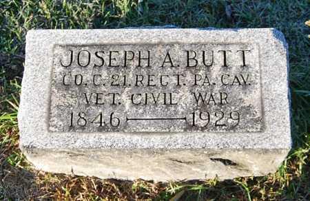 BUTT, JOSEPH A. - Juniata County, Pennsylvania | JOSEPH A. BUTT - Pennsylvania Gravestone Photos