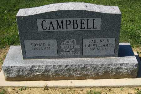CAMPBELL, DONALD A. - Juniata County, Pennsylvania | DONALD A. CAMPBELL - Pennsylvania Gravestone Photos