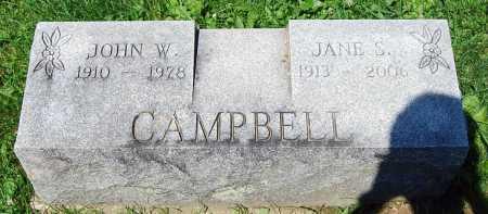 CAMPBELL, JOHN W. - Juniata County, Pennsylvania | JOHN W. CAMPBELL - Pennsylvania Gravestone Photos