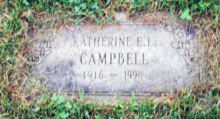 CAMPBELL, KATHERINE E. L. - Juniata County, Pennsylvania | KATHERINE E. L. CAMPBELL - Pennsylvania Gravestone Photos