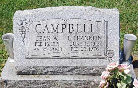 CAMPBELL, JEAN W. - Juniata County, Pennsylvania | JEAN W. CAMPBELL - Pennsylvania Gravestone Photos