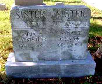 CROZIER, ANNA B. - Juniata County, Pennsylvania | ANNA B. CROZIER - Pennsylvania Gravestone Photos