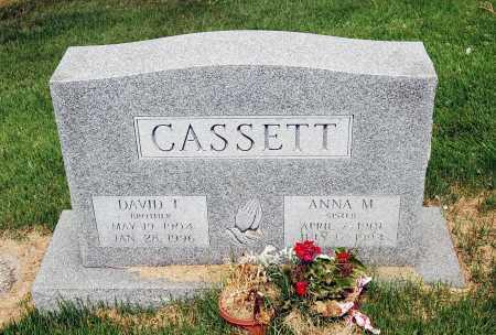 CASSETT, DAVID T. - Juniata County, Pennsylvania | DAVID T. CASSETT - Pennsylvania Gravestone Photos
