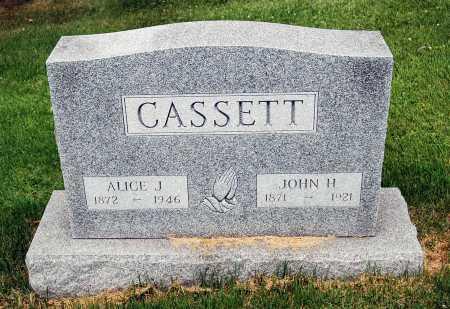 CASSETT, ALICE J. - Juniata County, Pennsylvania | ALICE J. CASSETT - Pennsylvania Gravestone Photos