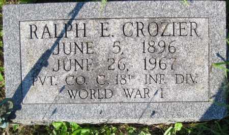 CROZIER, RALPH E. - Juniata County, Pennsylvania | RALPH E. CROZIER - Pennsylvania Gravestone Photos