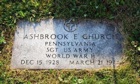 CHURCH, ASHBROOK EDWARD - Juniata County, Pennsylvania | ASHBROOK EDWARD CHURCH - Pennsylvania Gravestone Photos