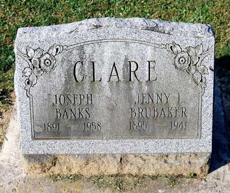 CLARE, JOSEPH BANKS - Juniata County, Pennsylvania | JOSEPH BANKS CLARE - Pennsylvania Gravestone Photos