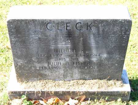 CLECK, WILLIAM K. - Juniata County, Pennsylvania | WILLIAM K. CLECK - Pennsylvania Gravestone Photos