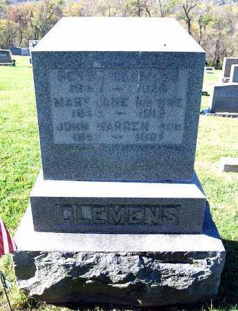 CLEMENS, JOHN WARNER - Juniata County, Pennsylvania   JOHN WARNER CLEMENS - Pennsylvania Gravestone Photos