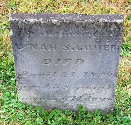 CODER, DINAH - Juniata County, Pennsylvania | DINAH CODER - Pennsylvania Gravestone Photos