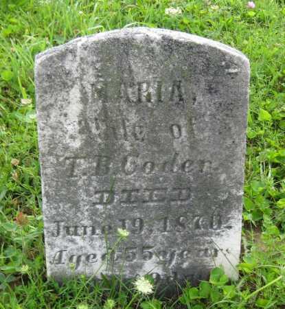 CODER, SARAH MARIA - Juniata County, Pennsylvania | SARAH MARIA CODER - Pennsylvania Gravestone Photos