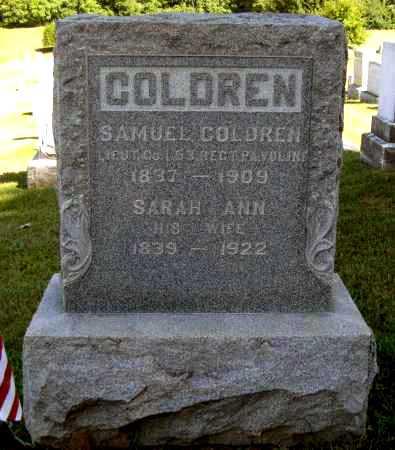 COLDREN, SARAH ANN - Juniata County, Pennsylvania   SARAH ANN COLDREN - Pennsylvania Gravestone Photos