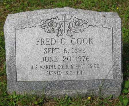 COOK, FRED O. - Juniata County, Pennsylvania | FRED O. COOK - Pennsylvania Gravestone Photos