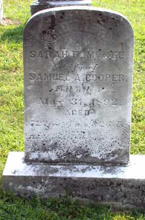 COOPER, SARAH E. - Juniata County, Pennsylvania | SARAH E. COOPER - Pennsylvania Gravestone Photos
