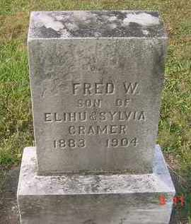 CRAMER, FRED W. - Juniata County, Pennsylvania | FRED W. CRAMER - Pennsylvania Gravestone Photos