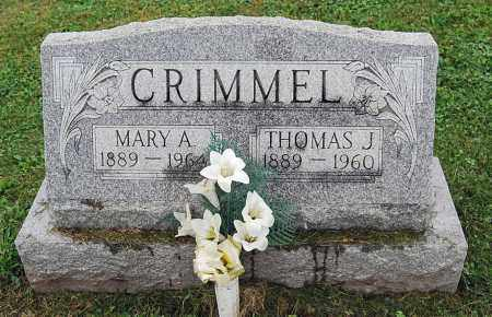 CRIMMEL, THOMAS JEFFERSON - Juniata County, Pennsylvania | THOMAS JEFFERSON CRIMMEL - Pennsylvania Gravestone Photos