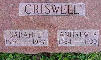 CRISWELL, SARAH J. - Juniata County, Pennsylvania | SARAH J. CRISWELL - Pennsylvania Gravestone Photos