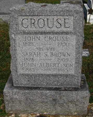 BROWN CROUSE, SARAH S. - Juniata County, Pennsylvania | SARAH S. BROWN CROUSE - Pennsylvania Gravestone Photos