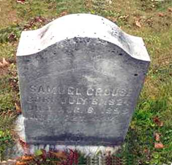 CROUSE, SAMUEL - Juniata County, Pennsylvania | SAMUEL CROUSE - Pennsylvania Gravestone Photos