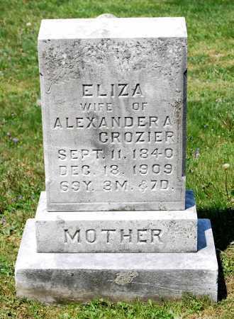 CROZIER, ELIZA - Juniata County, Pennsylvania   ELIZA CROZIER - Pennsylvania Gravestone Photos