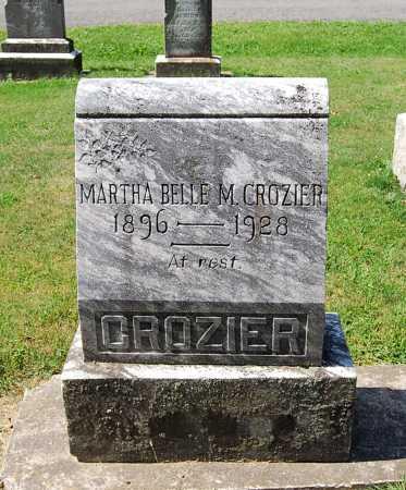 CROZIER, MARTHA BELLE M. - Juniata County, Pennsylvania   MARTHA BELLE M. CROZIER - Pennsylvania Gravestone Photos