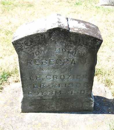 CROZIER, REBECCA J. - Juniata County, Pennsylvania | REBECCA J. CROZIER - Pennsylvania Gravestone Photos