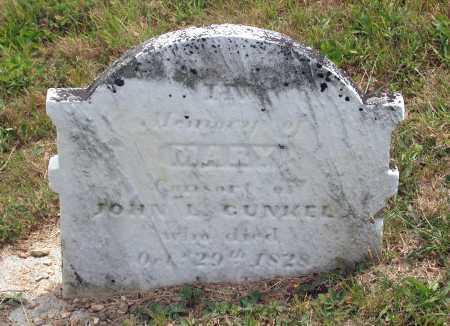 CUNKEL, MARY - Juniata County, Pennsylvania | MARY CUNKEL - Pennsylvania Gravestone Photos