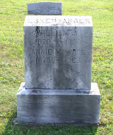 ECKENBARGER, WILLIAM A. - Juniata County, Pennsylvania | WILLIAM A. ECKENBARGER - Pennsylvania Gravestone Photos