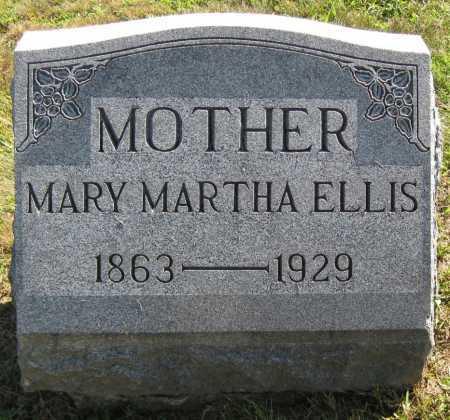 ELLIS, MARY MARTHA - Juniata County, Pennsylvania | MARY MARTHA ELLIS - Pennsylvania Gravestone Photos