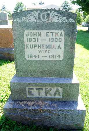 ETKA, EUPHEMIA A. - Juniata County, Pennsylvania | EUPHEMIA A. ETKA - Pennsylvania Gravestone Photos