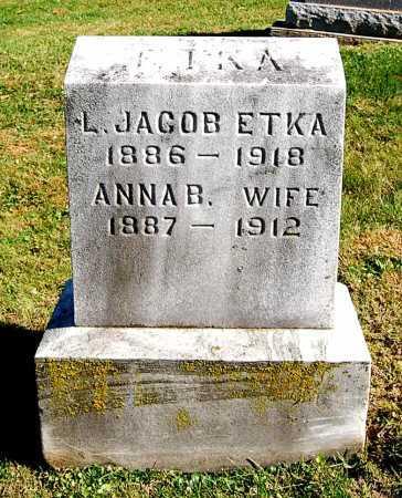 ETKA, ANNA B. - Juniata County, Pennsylvania | ANNA B. ETKA - Pennsylvania Gravestone Photos