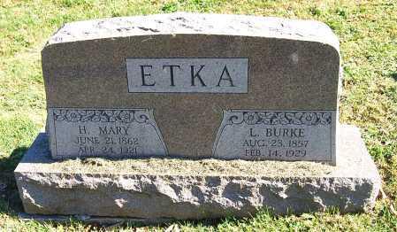 ETKA, L. BURKE - Juniata County, Pennsylvania | L. BURKE ETKA - Pennsylvania Gravestone Photos