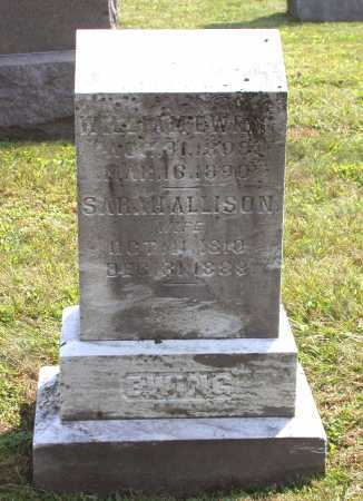 ALLISON EWING, SARAH - Juniata County, Pennsylvania | SARAH ALLISON EWING - Pennsylvania Gravestone Photos