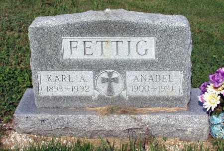 FETTIG, KARL ALBERT - Juniata County, Pennsylvania | KARL ALBERT FETTIG - Pennsylvania Gravestone Photos