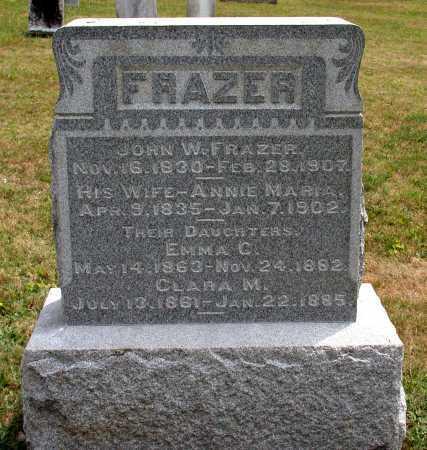 FRAZER, ANNIE MARIA - Juniata County, Pennsylvania | ANNIE MARIA FRAZER - Pennsylvania Gravestone Photos