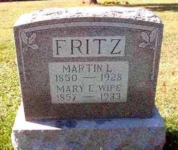 FRITZ, MARY E. - Juniata County, Pennsylvania | MARY E. FRITZ - Pennsylvania Gravestone Photos
