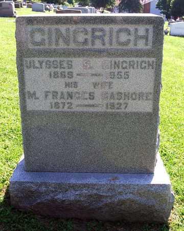 BASHORE GINGRICH, MARY FRANCES - Juniata County, Pennsylvania | MARY FRANCES BASHORE GINGRICH - Pennsylvania Gravestone Photos