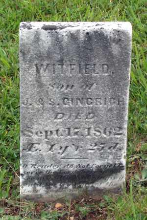 GINGRICH, WITFIELD - Juniata County, Pennsylvania   WITFIELD GINGRICH - Pennsylvania Gravestone Photos