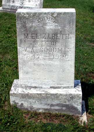 GOODMAN, M. ELIZABETH - Juniata County, Pennsylvania | M. ELIZABETH GOODMAN - Pennsylvania Gravestone Photos