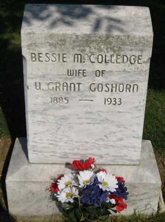 GOSHORN, BESSIE M. - Juniata County, Pennsylvania | BESSIE M. GOSHORN - Pennsylvania Gravestone Photos