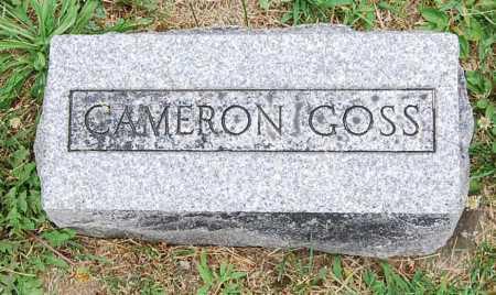 GOSS, CAMERON E. - Juniata County, Pennsylvania | CAMERON E. GOSS - Pennsylvania Gravestone Photos