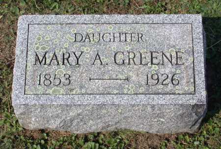 GREENE, MARY A. - Juniata County, Pennsylvania | MARY A. GREENE - Pennsylvania Gravestone Photos