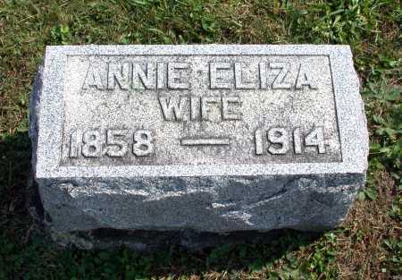 "GRONINGER, ANNA ""ANNIE"" ELIZA - Juniata County, Pennsylvania   ANNA ""ANNIE"" ELIZA GRONINGER - Pennsylvania Gravestone Photos"