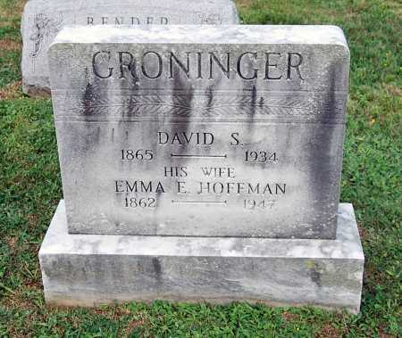 GRONINGER, DAVID S. - Juniata County, Pennsylvania | DAVID S. GRONINGER - Pennsylvania Gravestone Photos