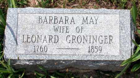 MAY GRONINGER, MARIA BARBARA - Juniata County, Pennsylvania | MARIA BARBARA MAY GRONINGER - Pennsylvania Gravestone Photos