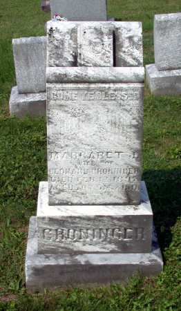 GRONINGER, MARGARET JANE - Juniata County, Pennsylvania | MARGARET JANE GRONINGER - Pennsylvania Gravestone Photos